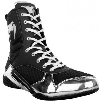 Scarpe Da Boxe Venum Elite Black/Silver