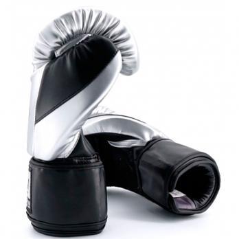 Guantoni da boxe Buddha Metallic silver/ nero