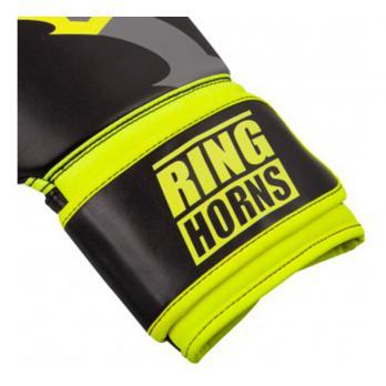 Guantoni da boxe Ringhorns Charger nero Neo Yellow By Venum