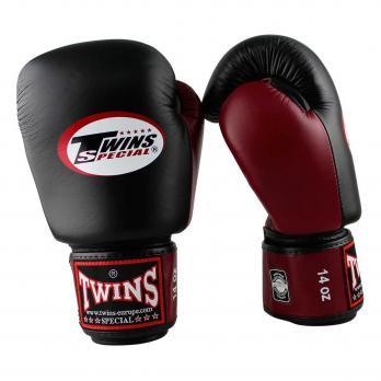 Guantoni da boxe Twins BGVL 3  Black / Wine Red