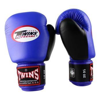 Guantoni da boxe Twins BGVL 3 Retro Blu / Nero