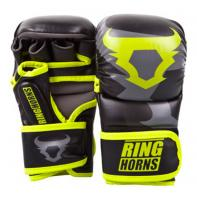 Guanti MMA Ringhorns  Charger Sparring nero Neo Yellow By Venum