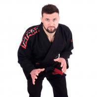 Kimono BJJ Tatami Red Bar nero