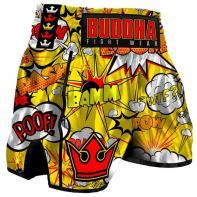 Pantaloncini  Muay Thai Buddha Retro Baam yellow Kids