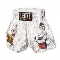 Pantaloncini  Muay Thai Leone Ramón Jr Kids Bianco