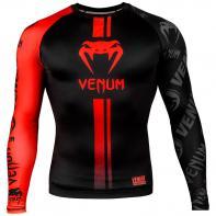 Rashguard Venum Logos l/s nero / rosso