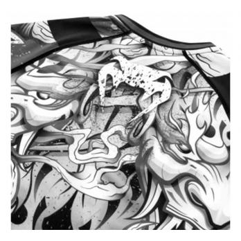 Rashguard Venum Devil Bianco/Nero l/s